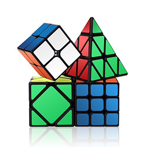 Roxenda Speed Cube Set, Magic Cube Set of 2x2x2...