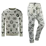 ALMAS APPAREL Mens Hip Hop New Biker Fleece Sweatsuit Track Suit Zipper 2 Piece Hoodie & Joggers (Large, NATURAL-250)