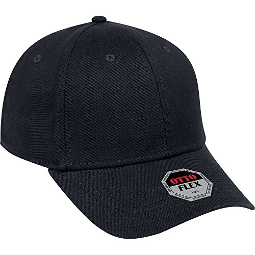 retchable Bull Denim 6 Panel Low Profile Baseball Cap - Black ()
