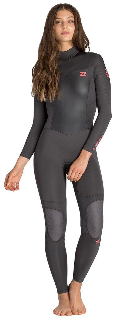 Billabong Women's 302 Synergy Back Zip Wetsuit Swimsuit, Off Black, 12