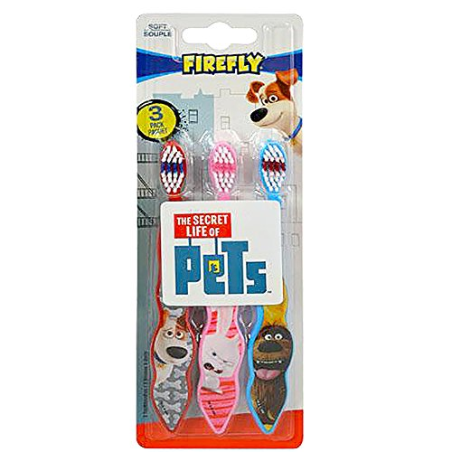 [The Secret Life of Pets 3-Pack Toothbrushes (Max,Snowball, Duke)] (Teeth Movie Online)