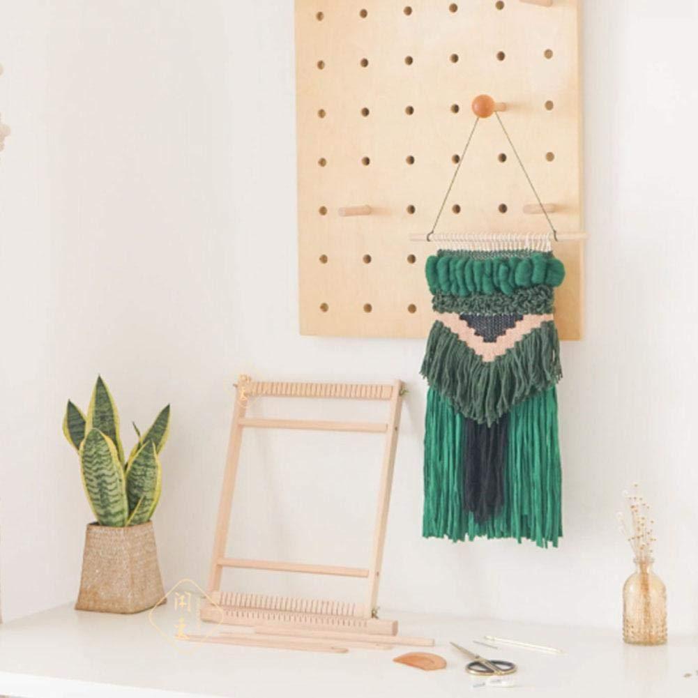 handgemachte DIY Wolle Spinnmaschine Weaving Gem/älde Kits f/ür Kinder cuckoo-X Holz-Webstuhl Kit