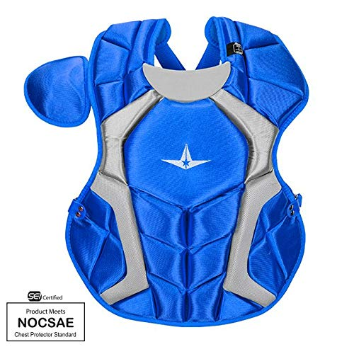 All-Star CPCC1216PS Royal 15.5 in 12-16 Player Series Chest Protector SEI/NOCSAE