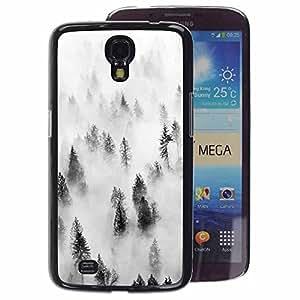 A-type Arte & diseño plástico duro Fundas Cover Cubre Hard Case Cover para Samsung Galaxy Mega 6.3 (Forest Fog Mist Trees Nature Inspiring)