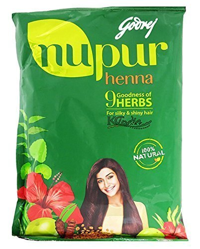 Godrej Nupur Mehendi Powder 9 Herbs Blend-55 Grams