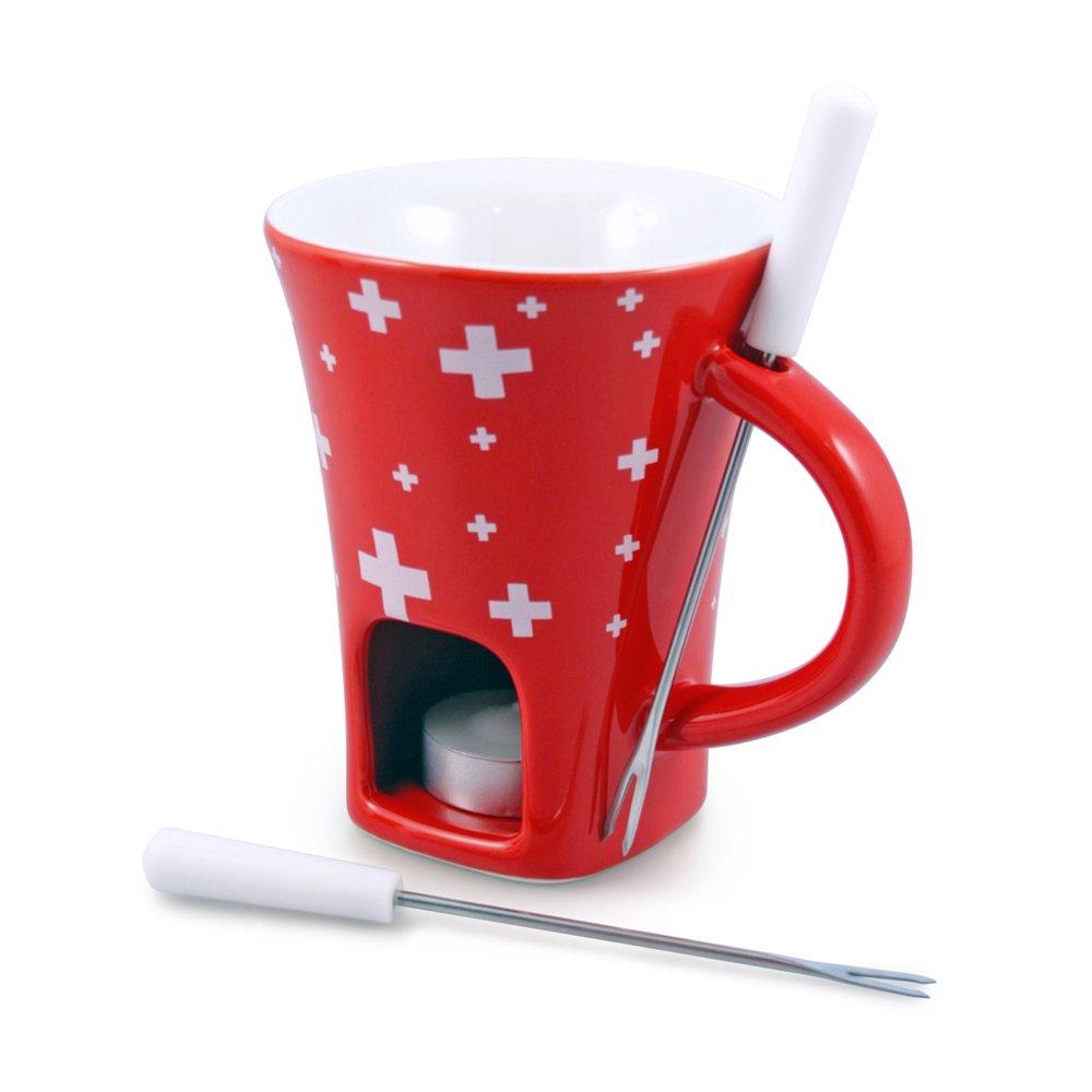 Swissmar F12065 4-Piece Swissy Chocolate Fondue Mug Set
