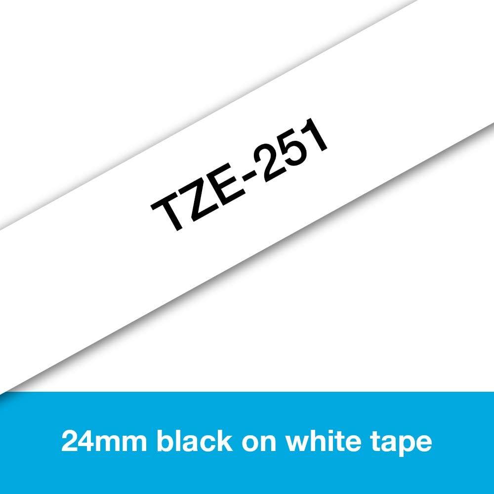 Nero//Bianco Brother TZEFX241 Nastro Flessibile 18 mm