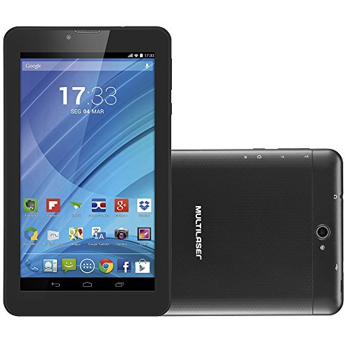 "Tablet M7 3G Quad Core Câmera Wi-Fi Dual Chip, Multilaser, NB223, 8 GB, 7"", Preto"