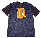 Detroit Tigers Youth Navy Blue Performance Primary Logo Digi Camo T-Shirt