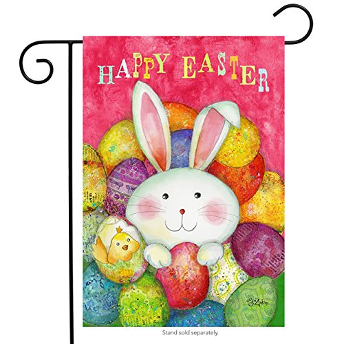 Happy Easter Garden Flag Bunny Decorated Eggs Briarwood Lane 12.5