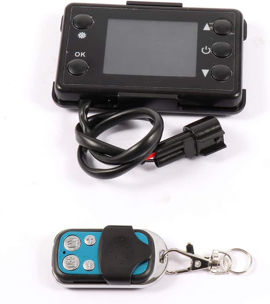 TUPARTS Universal Remote Control and LCD Monitor Switch for Air Diesel Parking Defroster Heater