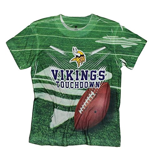 Amazon.com  Minnesota Vikings TOUCHDOWN NFL Youth T-Shirt  Sports ... fd640dcdb