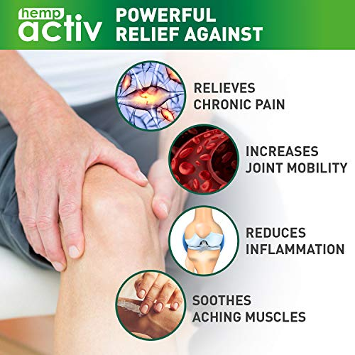 51XslaOBMeL - HEMPACTIV Hemp Pain Relief Cream  | Hemp + MSM + Arnica + Menthol | Relieve Muscle, Joint & Arthritis Pain | Effective Hemp Pain Cream | 2oz