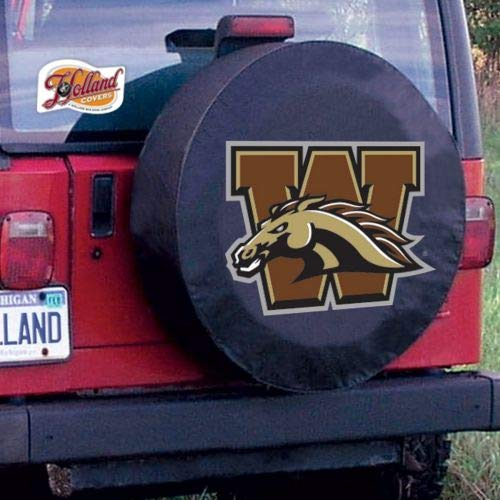 Holland Bar Stool Western Michigan University Tire Cover A, Black, Without Security Grommets ()