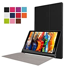 """Bestdeal® High Quality Ultra Slim Lightweight Smart Cover Stand Case for Lenovo Yoga Tab 3 Pro 10.1"""" inch Tablet PC + Screen Protector and Stylus Pen"""