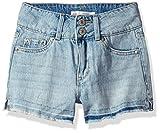 Levi's Girls' Big High Rise Denim Shorty Shorts, Bleach Out, 12