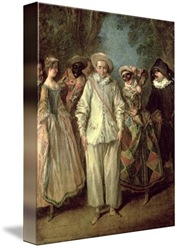 Imagekind Wall Art Print Entitled The Actors of The Commedia Dellarte by The Fine Art Masters | 8 x ()