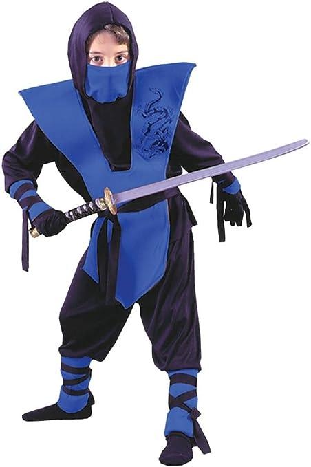 Amazon.com: Ninja – Disfraz Completo, niño, 4-6, S, Azul ...