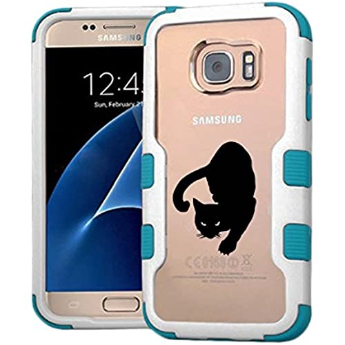 Galaxy S7 Case Hunter Cat, Extra Shock-Absorb Clear back panel + Engineered TPU bumper 3 layer protection for Samsung Galaxy S7 (New 2016) Blue Cover (Hunter Sales