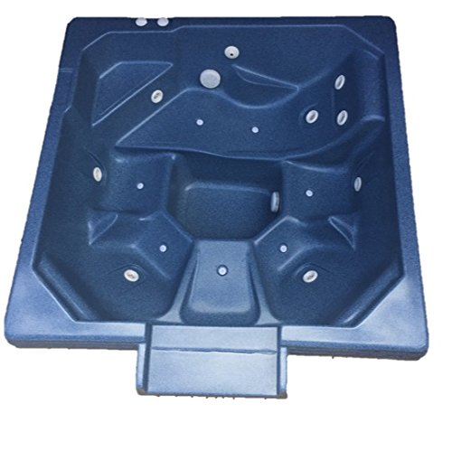 Spillway Spas, SW-501, 4-5 Person, 12 Jet In Ground Acrylic Spillway Spa, 78 x 78 x 32 (Caribbean Blue) by Spillway Spas
