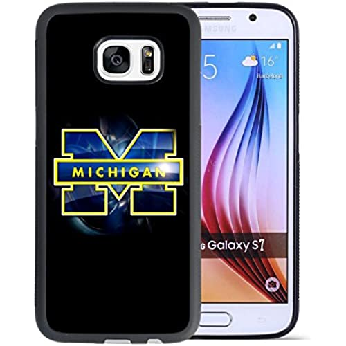 Samsung Galaxy S7 Drop Protection Case, Onelee NCAA Series Case for Samsung Galaxy S7, Michigan Wolverines Samsung S7 Case / Black Soft Rubber Sales
