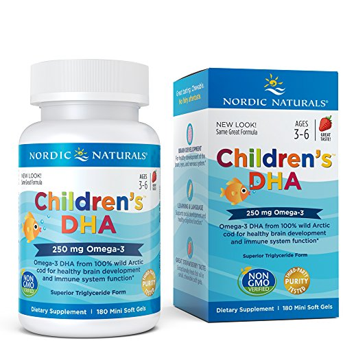 Nordic Naturals Children's DHA Strawberry - Children's Fish Oil Supplement for Healthy Cognitive Development and Immune Function*, 180 Soft Gels