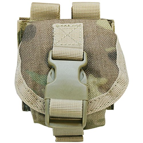 (MULTICAM Tactical M67 One Single Frag Hand Grenade Pouch Molle Pals Bag Holds 1)