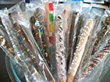 Chocolate Covered Pretzel Rods Coated In Chocolate/White Chocolate WITH TOPPINGS ASSORTED 50 Pieces
