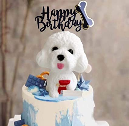 Magnificent Amazon Com Shami Happy Birthday Dog Cake Topper Acrylic Dog Pet Birthday Cards Printable Giouspongecafe Filternl