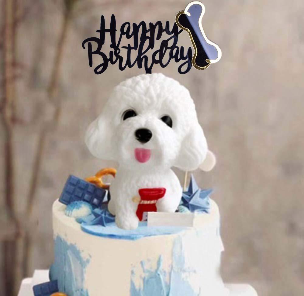 Brilliant Shami Happy Birthday Dog Cake Topper Acrylic Dog Pet Birthday Personalised Birthday Cards Veneteletsinfo