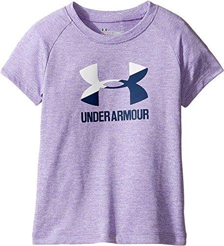 Under Armour Kids Baby Girl's UA Split Logo Short Sleeve (Toddler) Dark Lavender Shirt
