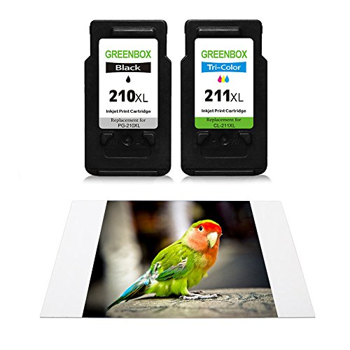 GREENBOX Remanufactured Ink Cartridge Replacement For Canon PG-210XL 210 XL CL-211XL 211 XL High Yield For CanonPIXMA IP2702 MP495 MP490 MP480 MP280 MX340 MX410 MX420 MX330 MX350 (1 Black+1 Tri-Color) Photo #9