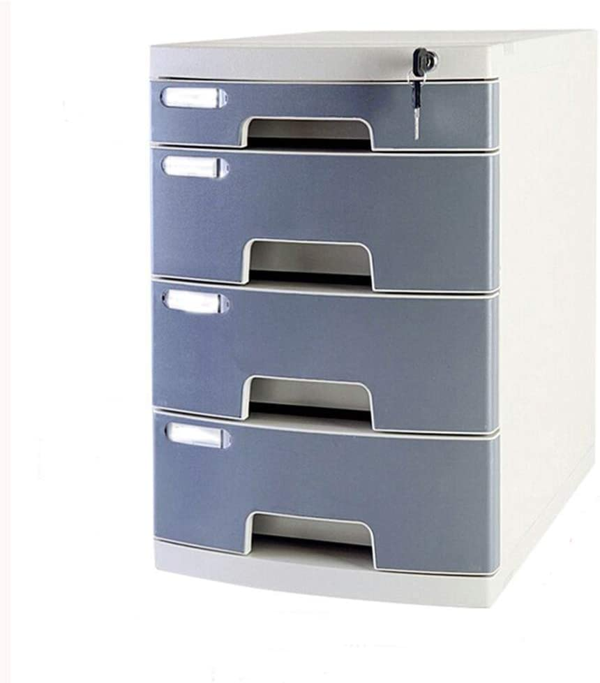 File cabinet File Cabinets 3 Drawers Cortex Desktop Security Cabinet File Storage Cabinet Storage Box Desktop Office Locker Home Office Furniture Office Supplies Color : B