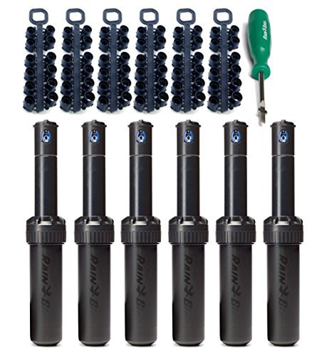 Rain Bird 5000 Series Rotor Sprinkler Heads bundle with Nozzles and Adjustment Tool (6 PACK)