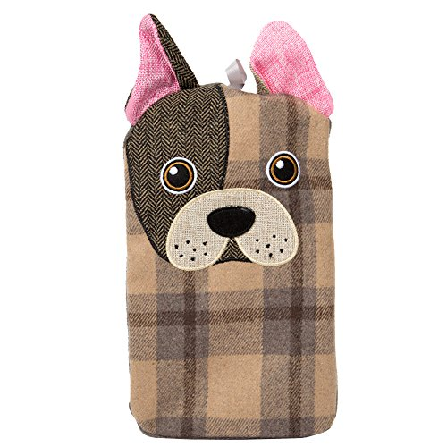 (CTG, Bodico Collection, 1L Dog Hot Water Bottle, 6.75 x 12.2 inches, Beige )