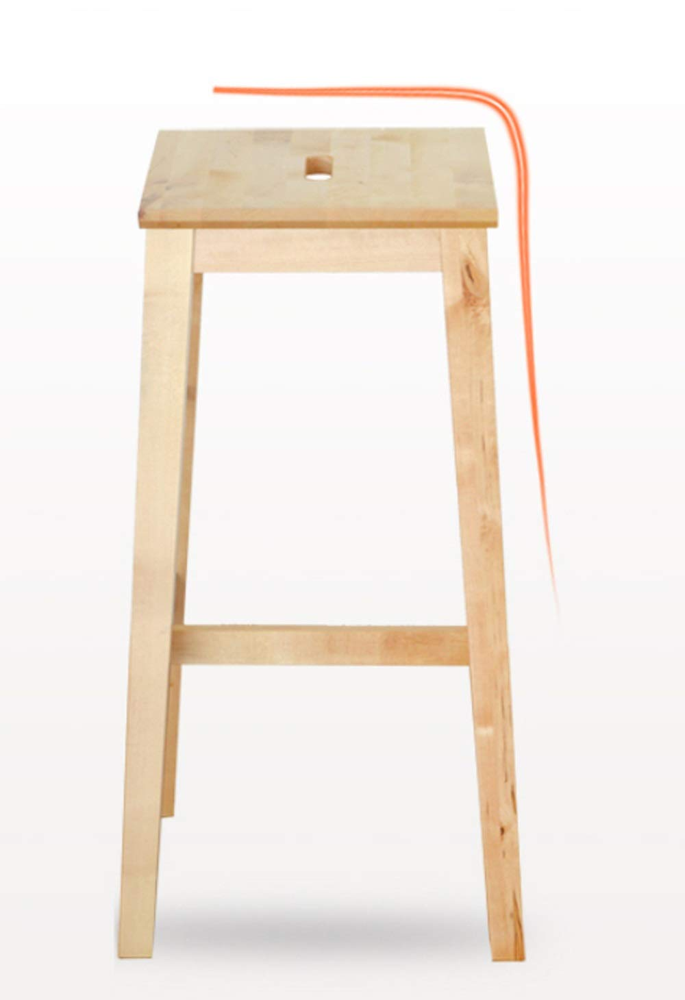 AO-stools Nordic Simple Birch bar Stool high Stool bar Chair 74x37x38cm by AO (Image #5)