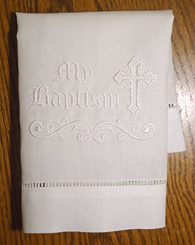 Integrity Designs Baby Baptism Cloth with white