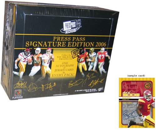 (2006 Press Pass Signature Edition Football HOBBY Box - 12p5c)
