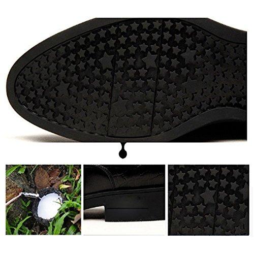 NIUMJ di E Autunno Casual Affari Versione Inverno Casuale Scarpe Coreana Alta Brown Fascia Scarpe di Tendenza Maschi Cuoio BUqw6Br