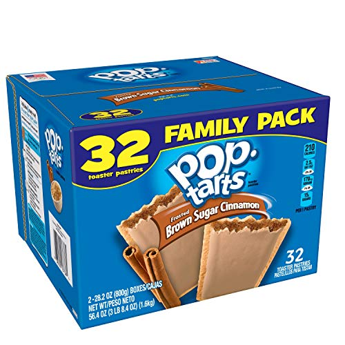 Pop-Tarts Breakfast Toaster Pastries, Frosted Brown Sugar Cinnamon Flavored, Family Pack, 56.4 oz (32 Count)