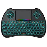 direct tv backlit remote control - HEYNOW H9 Wireless Mini Keyboard(Colorful Backlit),2.4GHz Multifunctional Mouse Touchpad Combo,Rechargable Li-ion Battery Remote Control For PC,Xbox 360,Android TV Box,HTPC,IPTV,Pad and More Device