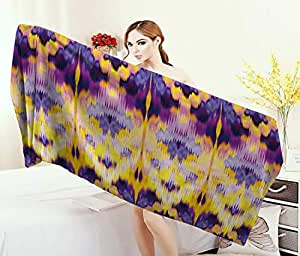 Amazon.com: Anniutwo Ikat,Bath Towel,Ikat Pattern Dyeing