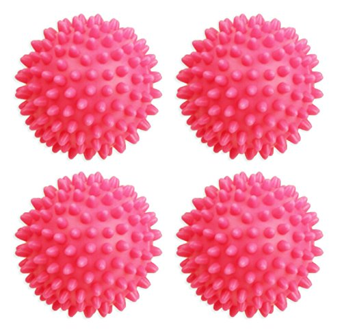 Set of 4 Pink Dryer Balls! Black Duck Brand - Reusable Dryer Balls Replace Fabric Softener! Hypoallergenic and Eco-Friendly! Lowers Drying Time! Naturally Softens and Releases Static Cling!