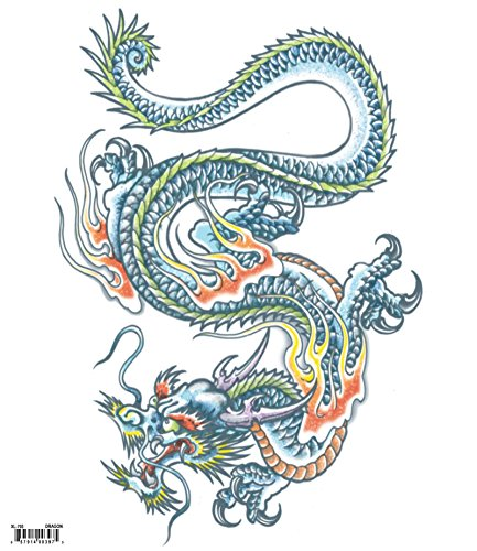 Tinsley Transfers  Dragon, Flesh/Multi, One Size]()