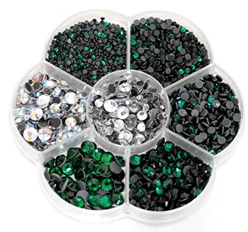 Emerald Glass Brooch - BLINGINBOX Hotfix Rhinestone 28 Colors to Choose 3000pcs Mixed Sizes(ss6-ss30) Emerald DMC Hot Fix Glass Rhinestone