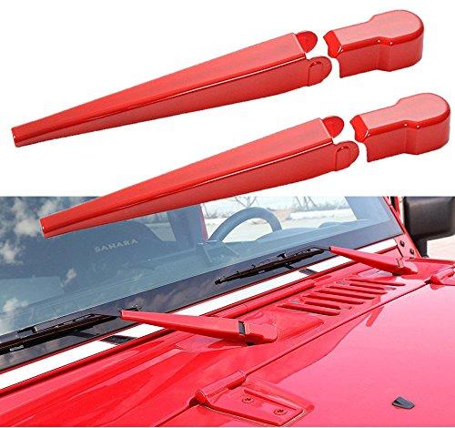 Front Window Windshield Wiper Blade Trim Cover for 2007-2017 Jeep Wrangler JK