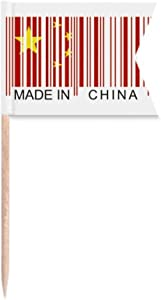 China Bar Code National Chinese Toothpick Flags Labeling Marking for Party Cake Food Cheeseplate
