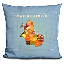 LiLiPi Upside Down Africa Decorative Accent Throw Pillow