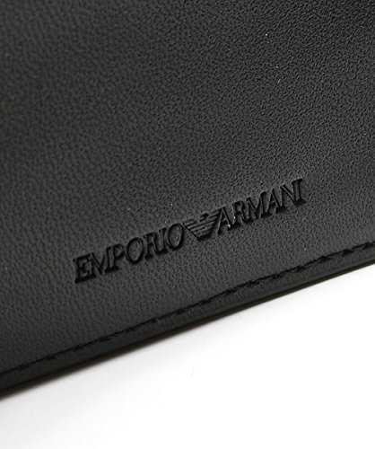 One Bifold Men's Wallet Size Maxi Emporio Logo Armani Black qvPpnaHx