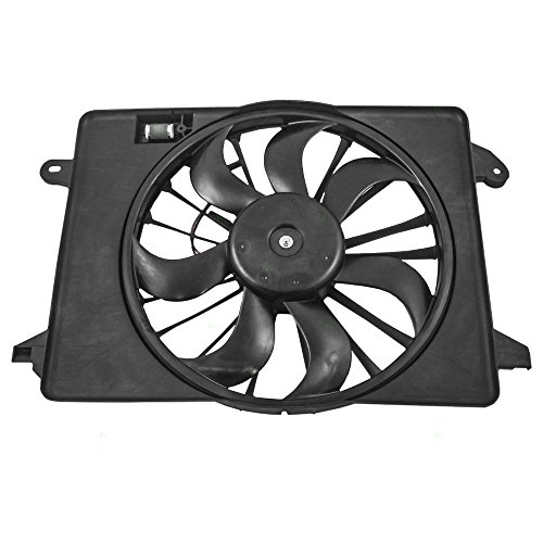 Motor Cooling Fan Shroud Auto (Single Cooling Fan Motor Shroud Assembly Replacement for Chrysler Dodge 68050129AA)